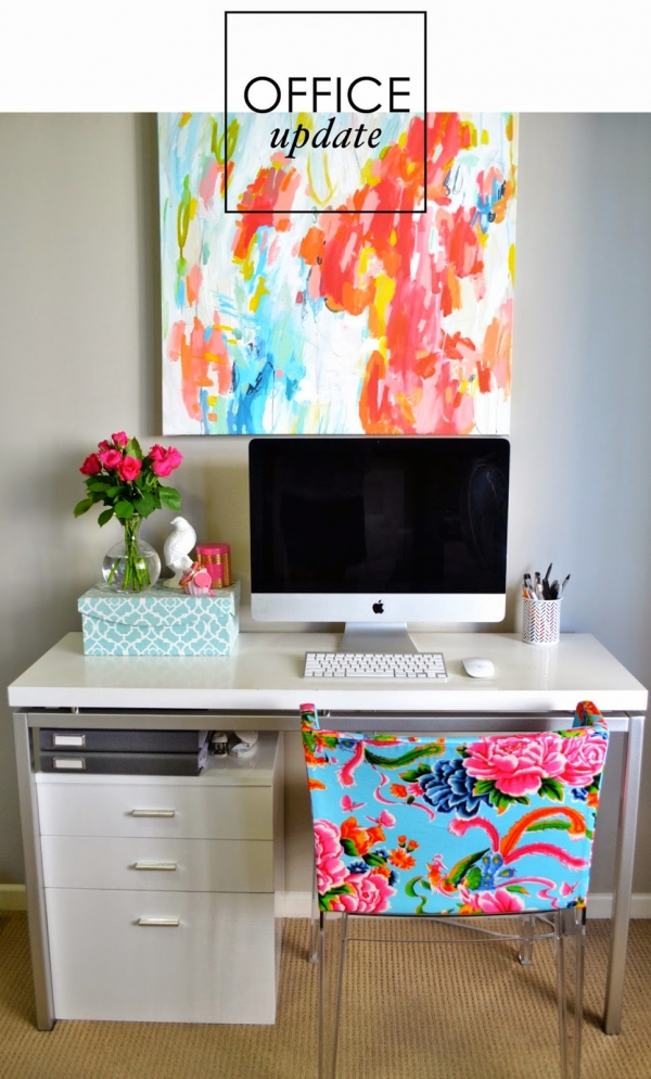 adore-home-magazine-office-update-mademoiselle-chair-michelle-armas-painting-abstract-art-study-600x994.jpg